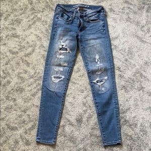 American Eagle Outfitters, ripped/patches jeans